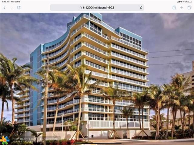 1200 Holiday Dr #603, Fort Lauderdale, FL 33316 (MLS #F10199177) :: The O'Flaherty Team