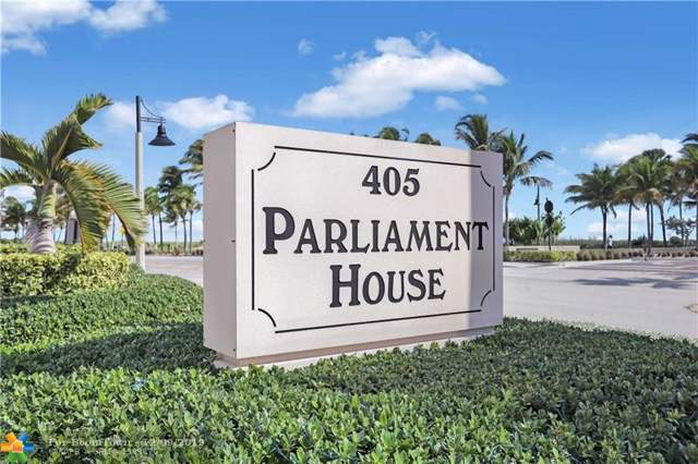 405 N Ocean Blvd #420, Pompano Beach, FL 33062 (MLS #F10204960) :: Castelli Real Estate Services