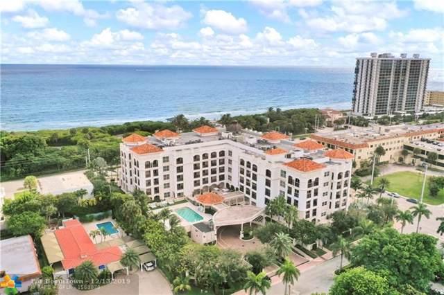 1 N Ocean Boulevard #106, Boca Raton, FL 33432 (MLS #F10205023) :: Berkshire Hathaway HomeServices EWM Realty