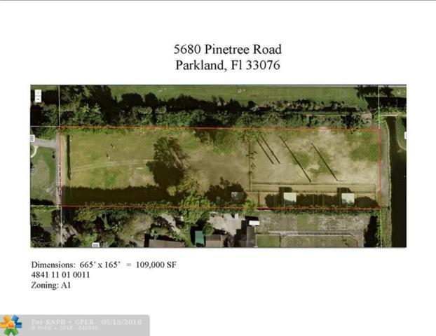 5680 Pinetree Rd, Parkland, FL 33067 (MLS #F10090293) :: Green Realty Properties