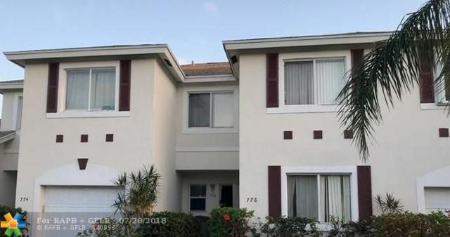 778 NW 42ND PL #778, Pompano Beach, FL 33064 (MLS #F10131482) :: Green Realty Properties