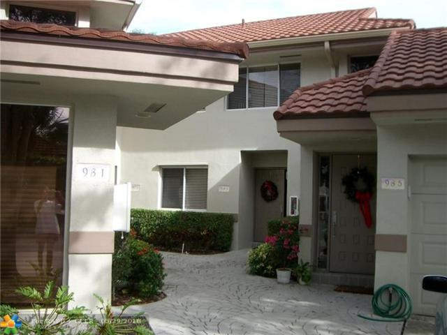 983 NW 93rd Ave #983, Plantation, FL 33324 (MLS #F10039442) :: Green Realty Properties