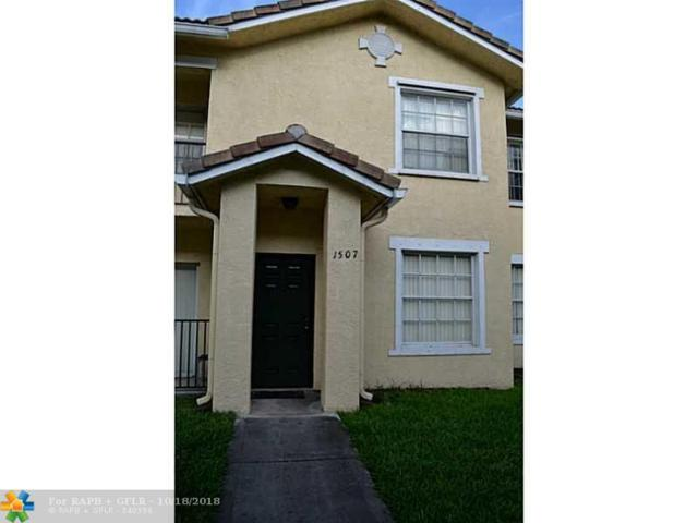 1507 Belmont Ln #1507, North Lauderdale, FL 33068 (MLS #F1352090) :: Green Realty Properties