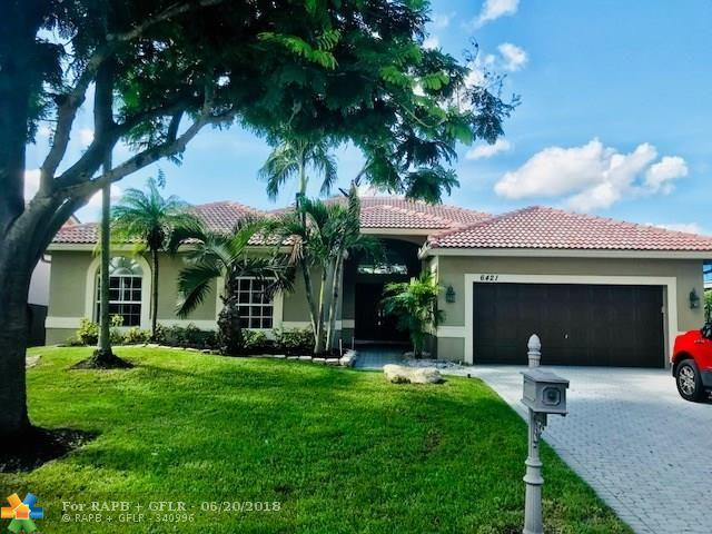 6421 NW 41st St, Coral Springs, FL 33067 (MLS #F10128289) :: Green Realty Properties