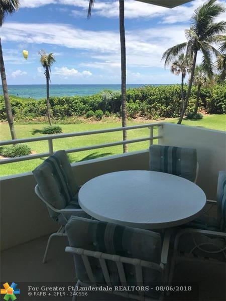 1610 N Ocean Blvd #101, Pompano Beach, FL 33062 (MLS #F10135386) :: Green Realty Properties