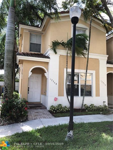 12948 SW 32nd St #101, Miramar, FL 33027 (MLS #F10145676) :: Green Realty Properties