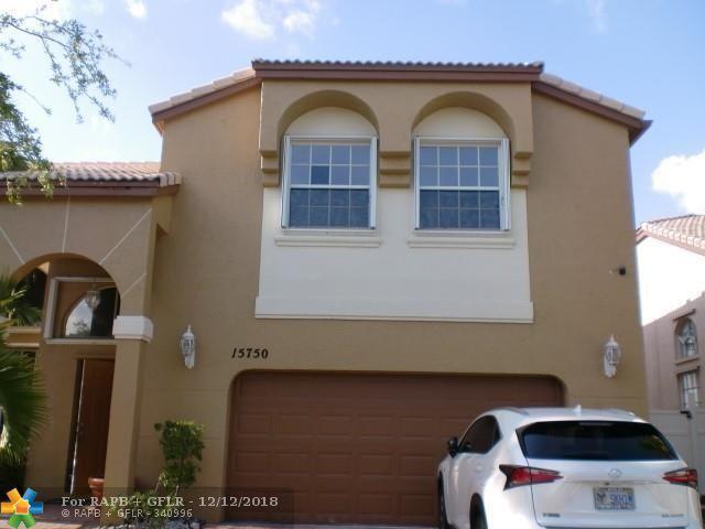 15750 NW 10th St, Pembroke Pines, FL 33028 (MLS #F10153000) :: Green Realty Properties