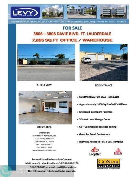 3806-3808 Davie Boulevard, Fort Lauderdale, FL 33312 (#F10245308) :: Ryan Jennings Group