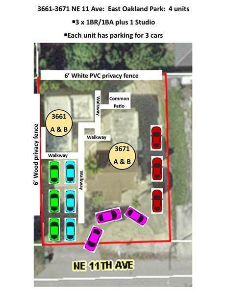 3661-3671 NE 11th Ave, Oakland Park, FL 33334 (MLS #F10276397) :: The Jack Coden Group