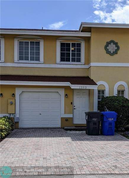 1393 Avon Ln #1393, North Lauderdale, FL 33068 (MLS #F10221013) :: THE BANNON GROUP at RE/MAX CONSULTANTS REALTY I