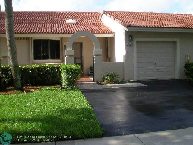 16650 Greens Edge Cir #66, Weston, FL 33326 (MLS #F10221569) :: THE BANNON GROUP at RE/MAX CONSULTANTS REALTY I