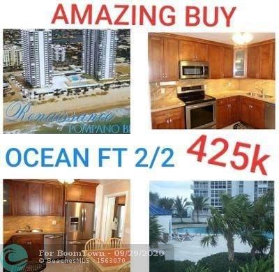 1360 S Ocean Blvd #302, Pompano Beach, FL 33062 (#F10248970) :: Posh Properties