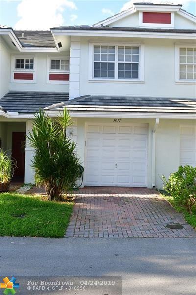 3071 NW 30th Pl #3071, Oakland Park, FL 33311 (MLS #F10172085) :: Berkshire Hathaway HomeServices EWM Realty