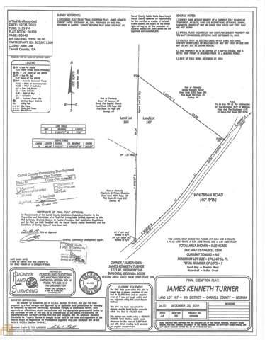 0 Whitman Rd 5 Acres, Bowdon, GA 30108 (MLS #8662878) :: Rettro Group