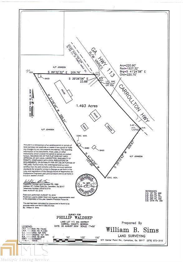 1031 Carrollton, Temple, GA 30179 (MLS #8676820) :: Tim Stout and Associates