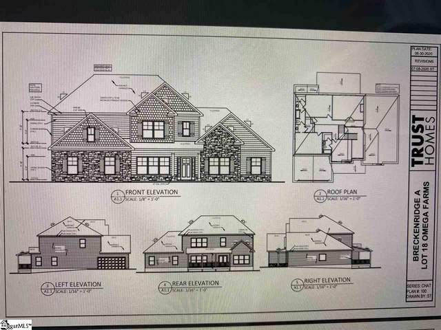 1032 Omega Farms Lane Lot#18, Williamston, SC 29697 (#1421443) :: Green Arc Properties