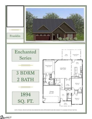 646 Cub Branch Drive Lot 71, Spartanburg, SC 29301 (#1371928) :: Coldwell Banker Caine