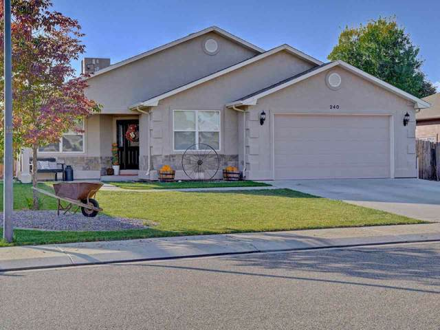240 Vista Valley Drive, Fruita, CO 81521 (MLS #20195823) :: CapRock Real Estate, LLC