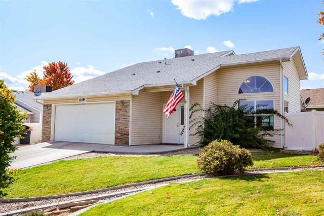 649 Mt Julian Drive, Grand Junction, CO 81504 (MLS #20195826) :: The Grand Junction Group with Keller Williams Colorado West LLC