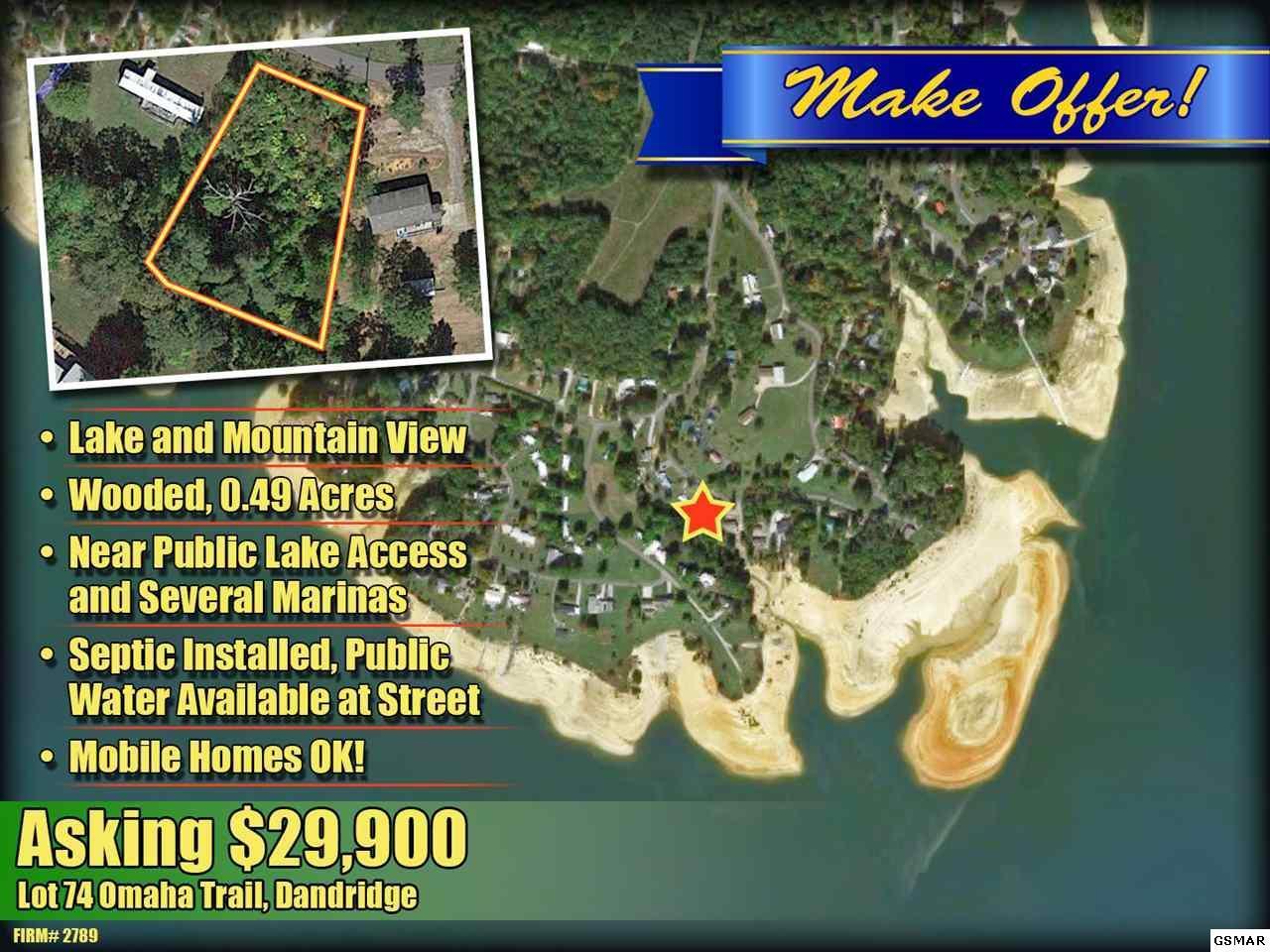 Lot 74 Omaha Trail, Dandridge, TN 37725 (#208543) :: Tennessee ... Dandridge Tn Map on