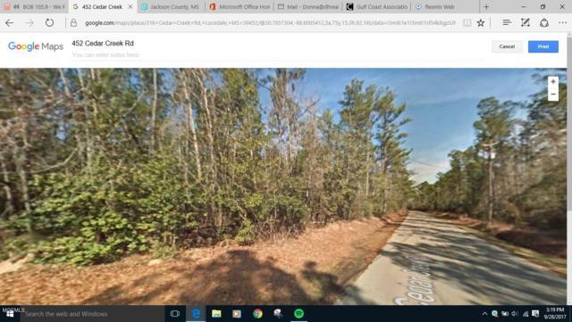 0 Cedar Creek Rd, Lucedale, MS 39452 (MLS #325540) :: Ashley Endris, Rockin the MS Gulf Coast