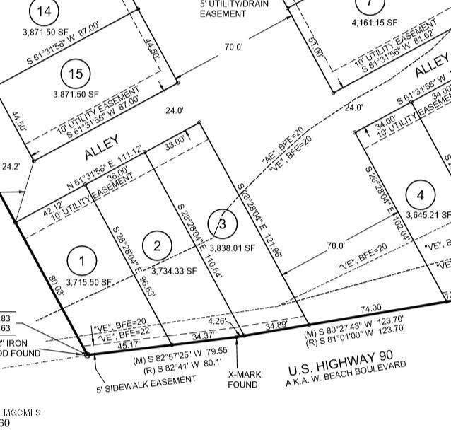 4512 W Beach Blvd Lot 3, Gulfport, MS 39501 (MLS #361169) :: The Sherman Group