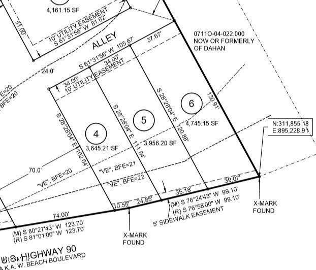 4512 W Beach Blvd Lot 6, Gulfport, MS 39501 (MLS #361170) :: The Sherman Group