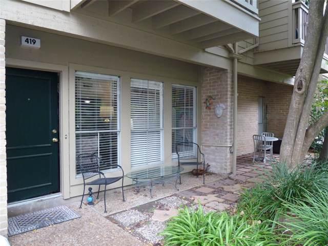 2100 Tanglewilde Street #419, Houston, TX 77063 (MLS #11086134) :: Ellison Real Estate Team