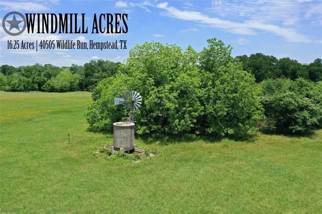 40505 Wildlife Run, Hempstead, TX 77445 (MLS #25665841) :: Lerner Realty Solutions
