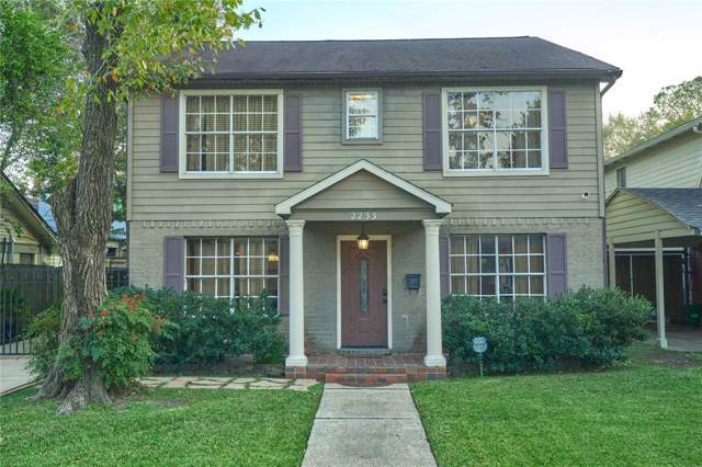2233 Sul Ross Street, Houston, TX 77098 (MLS #29948467) :: Ellison Real Estate Team
