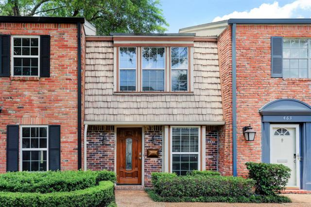 461 Bendwood Drive J, Houston, TX 77024 (MLS #37941080) :: The SOLD by George Team
