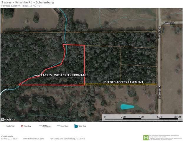TBD (1) Krischke Road, Schulenburg, TX 78956 (MLS #40282347) :: Texas Home Shop Realty