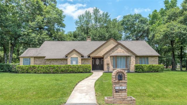 647 Cotter Drive, Spring, TX 77373 (MLS #40303866) :: The Heyl Group at Keller Williams