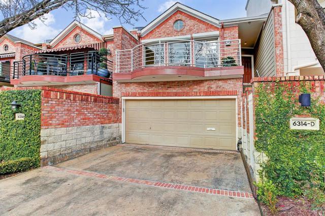 6314 Taggart Street D, Houston, TX 77007 (MLS #42293042) :: Texas Home Shop Realty