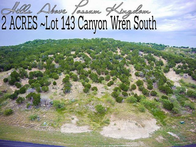Lot 143 Canyon Wren S, GRAFORD, TX 76449 (MLS #43929834) :: TEXdot Realtors, Inc.