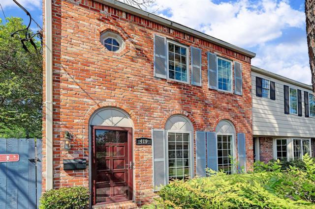 419 Bendwood Drive #52, Houston, TX 77024 (MLS #452426) :: The Heyl Group at Keller Williams