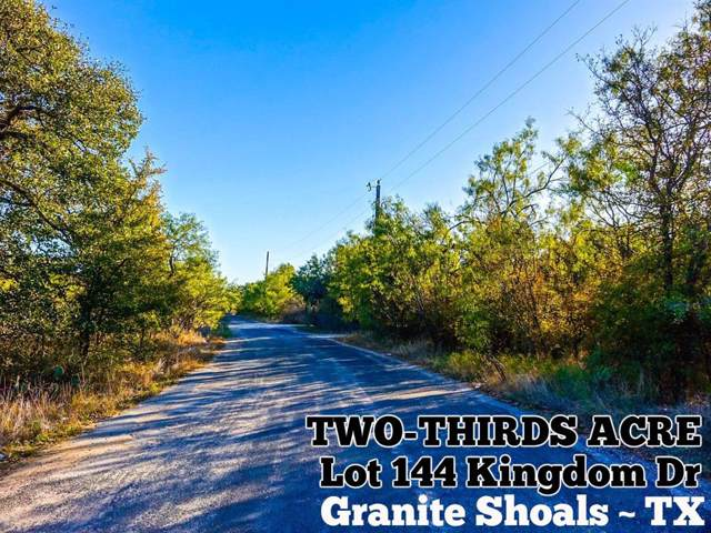 Lot 1144 Kingdom Drive, Granite Shoals, TX 78654 (MLS #52245904) :: Texas Home Shop Realty
