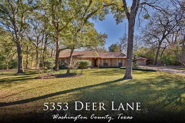 5353 Deer Ln, Brenham, TX 77833 (MLS #71467825) :: Texas Home Shop Realty