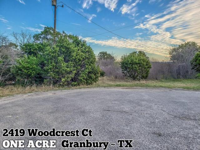 2419 Woodcrest Court, Granbury, TX 76048 (MLS #8847831) :: Giorgi Real Estate Group