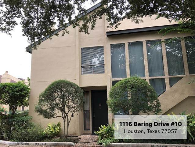 1116 Bering Drive #10, Houston, TX 77057 (MLS #89792838) :: Texas Home Shop Realty