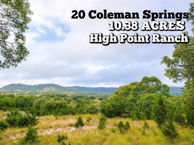 20 Coleman Springs, Boerne, TX 78006 (MLS #94033435) :: Texas Home Shop Realty