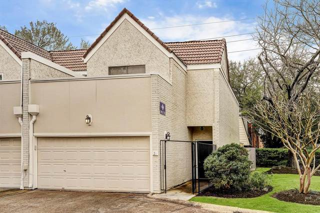 1330 Augusta Drive #21, Houston, TX 77057 (MLS #95608954) :: The Bly Team