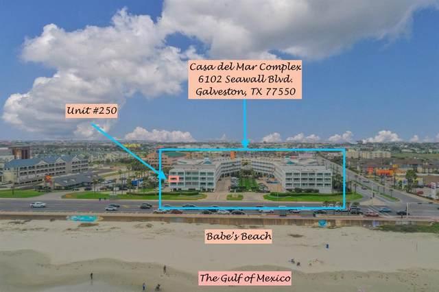 6102 Seawall Boulevard #250, Galveston, TX 77551 (MLS #23050928) :: My BCS Home Real Estate Group