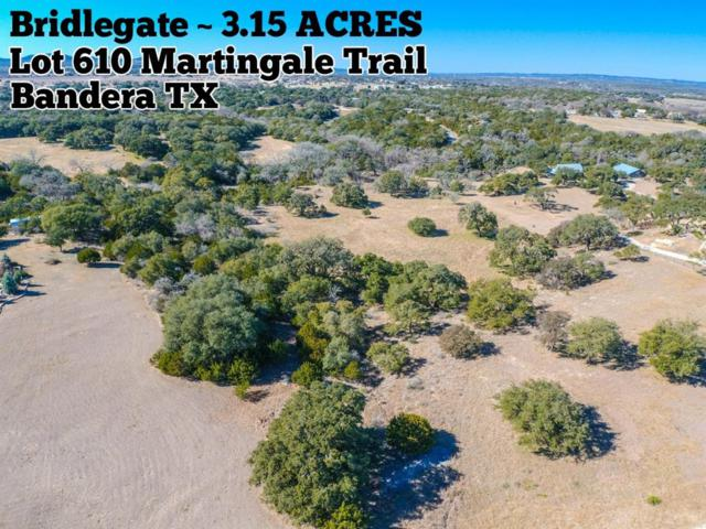 Lot 610 Martingale Trail, Bandera, TX 78003 (MLS #41872715) :: The Heyl Group at Keller Williams