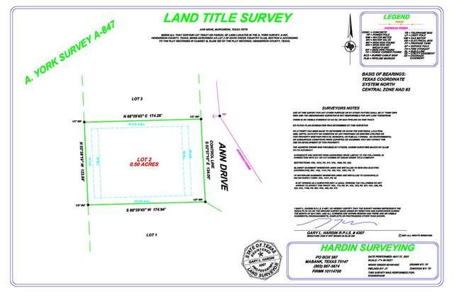 Lot 2 Ann Drive, MURCHISON, TX 75778 (MLS #95353) :: Steve Grant Real Estate