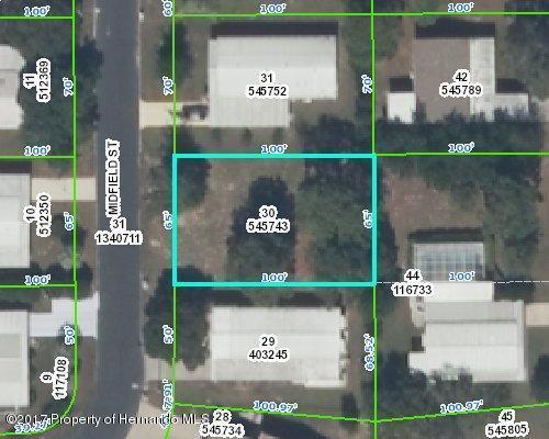 0 Midfield Street, Brooksville, FL 34613 (MLS #2180953) :: The Hardy Team - RE/MAX Marketing Specialists