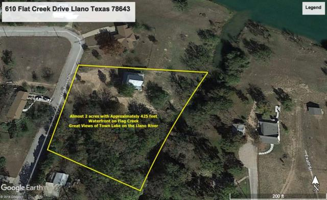 610 Flag Creek Dr, Llano, TX 78643 (#145182) :: The ZinaSells Group