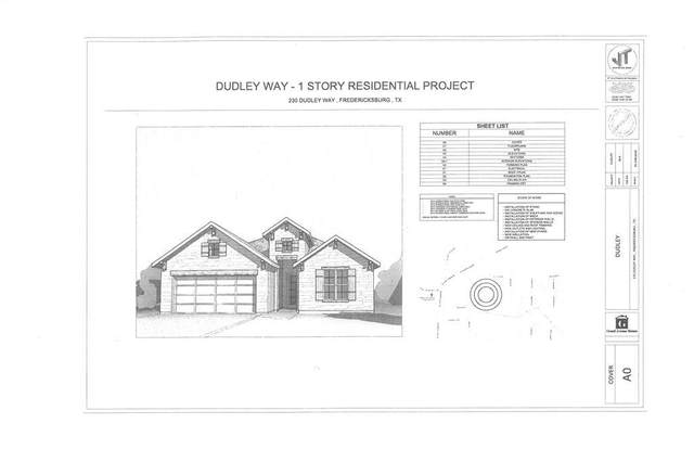 230 -- Dudley Way, Fredericksburg, TX 78624 (MLS #82507) :: The Glover Homes & Land Group