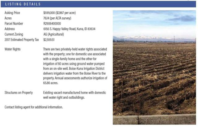 6156 S Happy Valley Rd, Kuna, ID 83634 (MLS #98715118) :: Jon Gosche Real Estate, LLC