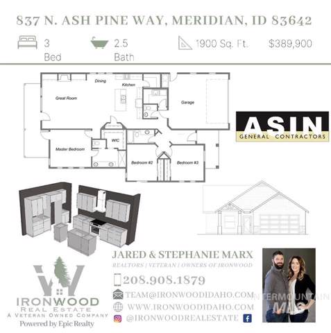 837 N Ash Pine Way, Meridian, ID 83642 (MLS #98755386) :: Idahome and Land